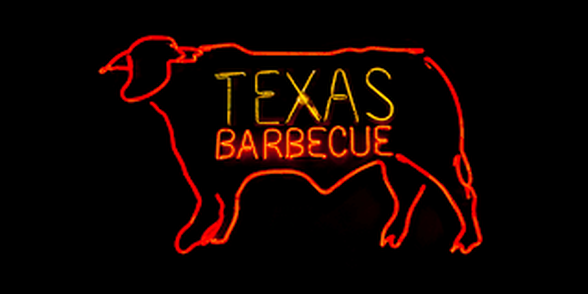 Pig with words Texas Barbecue